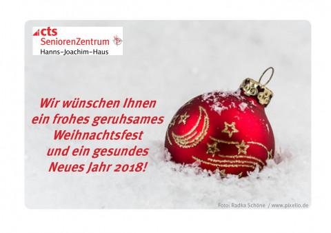 Wir wünschen Ihnen ein frohes geruhsames Weihnachtsfest